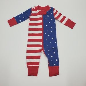Hanna Andersson Organic Cotton Onesie Flag Stripes